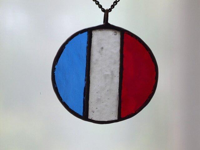 国旗 ネックレス(フランス)の画像1枚目