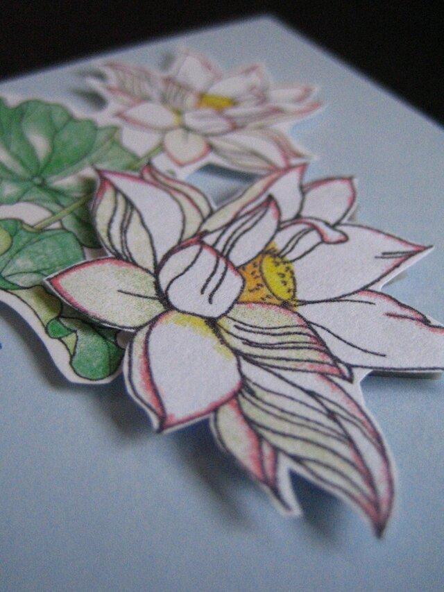 【展示品】ほんのきもちカード 【夏白色 蓮のはな】の画像1枚目