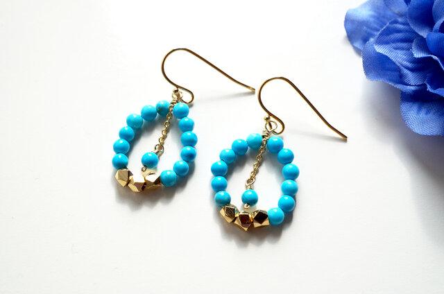 アーバン ターコイズ ピアス urban Turquoise earrings P0028の画像1枚目