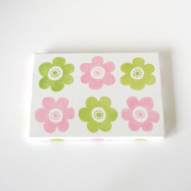 anemone ファブリックパネル (ピンク&グリーン)の画像1枚目