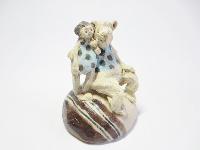 クマと金太郎 -おそろい水玉-の画像1枚目