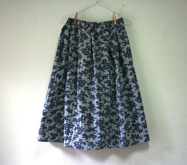 浴衣地 竹林 ギャザーゴムスカート MLサイズの画像1枚目