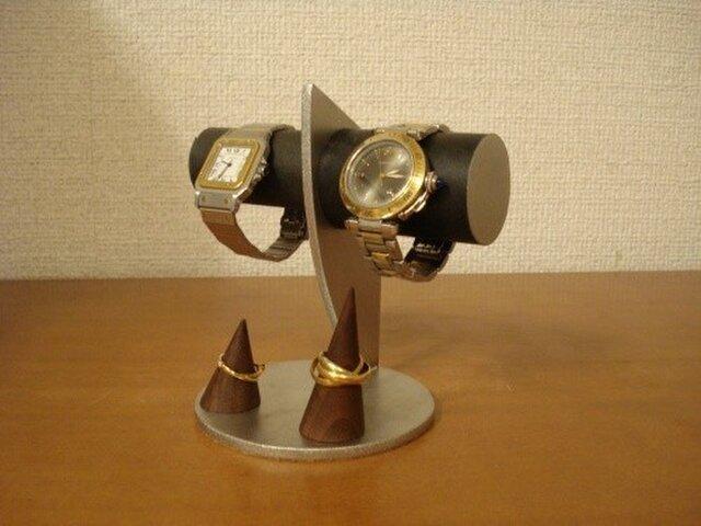 ブラックカップル腕時計スタンドの画像1枚目