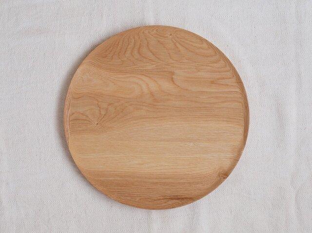 丸トレイ(お盆)タモ材2の画像1枚目