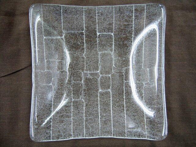 涼しげな複雑模様ガラス中皿SD440の画像1枚目