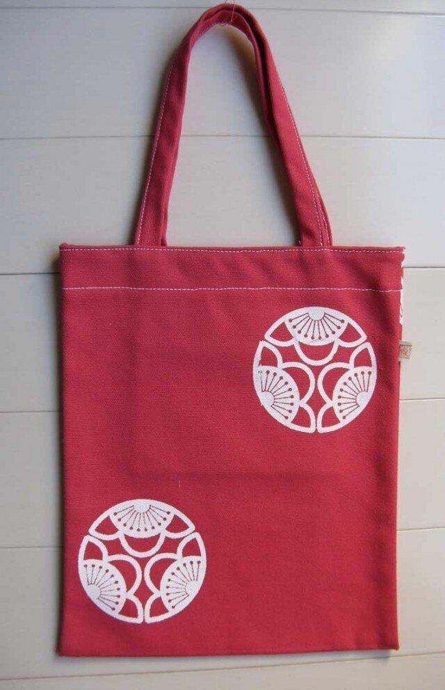 家紋シリーズ 縦長バッグ「中かげ三つ割り梅」の画像1枚目