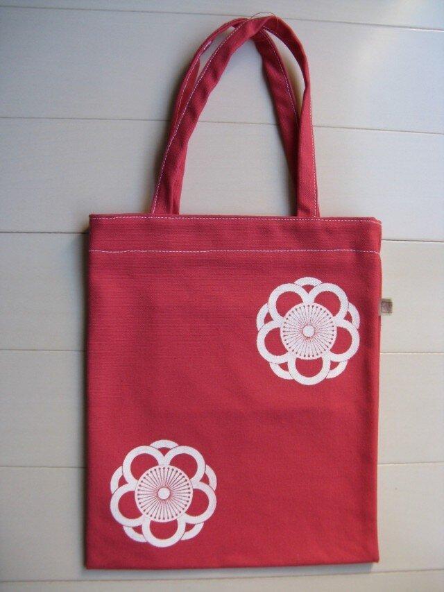 家紋シリーズ 縦長バッグ「中かげ八重向こう梅」 の画像1枚目