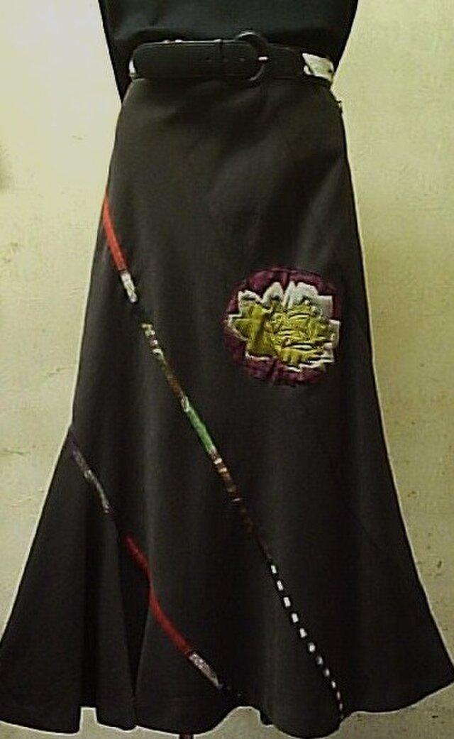 リメイク エスカルゴロングスカートの画像1枚目