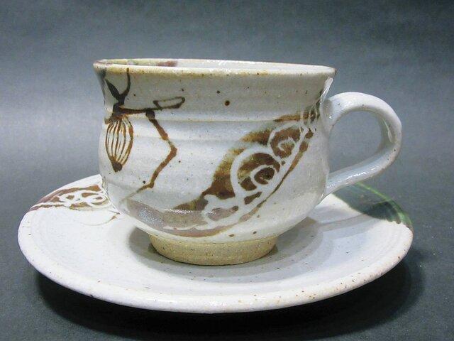 織部唐津コーヒーカップの画像1枚目