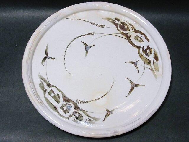 絵粉引唐津洋皿の画像1枚目