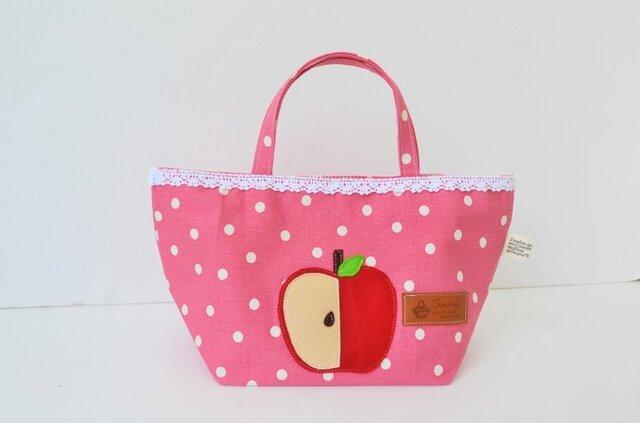 目立つ可愛さ♪アップルル~なミニトートバッグの画像1枚目