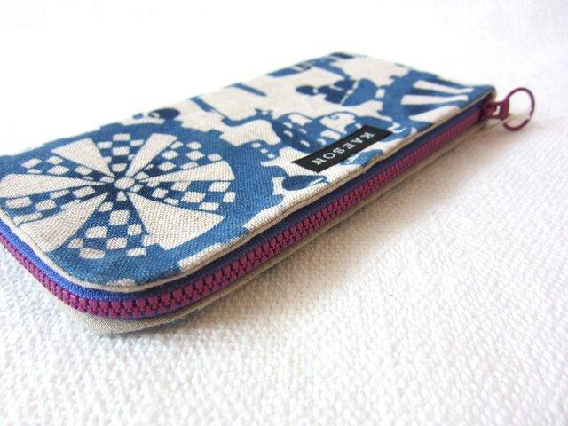 型染め 長財布「アップルジュース工場」の画像1枚目