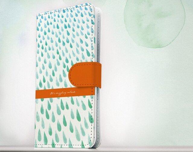 全機種対応 手帳型 スマホケース iPhoneXs iPhone9 iPhoneXs MaxiPhoneX 雨 柔らかい雨の画像1枚目
