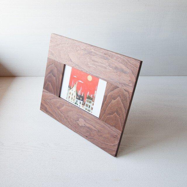 フォトフレーム(thin)ポストカード | ウォールナット No1の画像1枚目