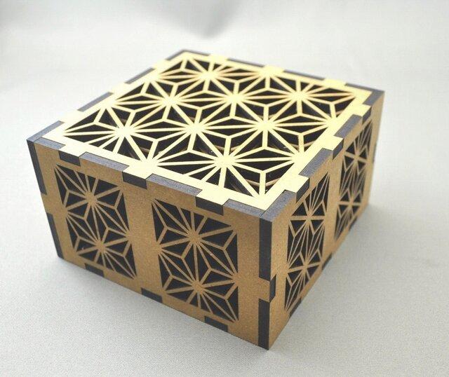 ~和柄コースター~ 麻の葉(あさのは)模様 12枚セット 麻の葉模様のオリジナルの箱付。の画像1枚目