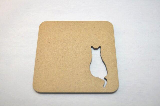 ~切り抜きコースター~ Cat 後ろ姿の画像1枚目