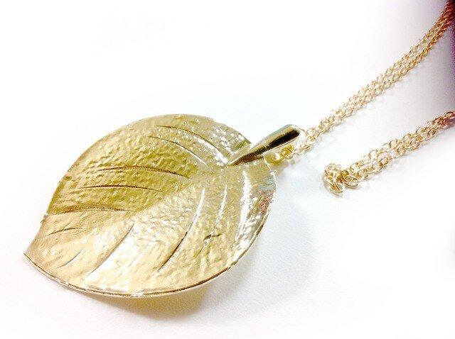 リーフブラスヴィンテージネックレス 真鍮の画像1枚目