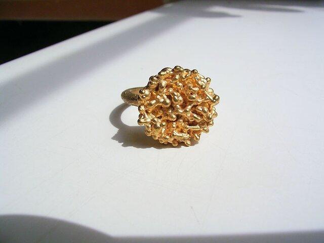 粔籹(おこし)Ring-丸 真鍮/K18gpの画像1枚目