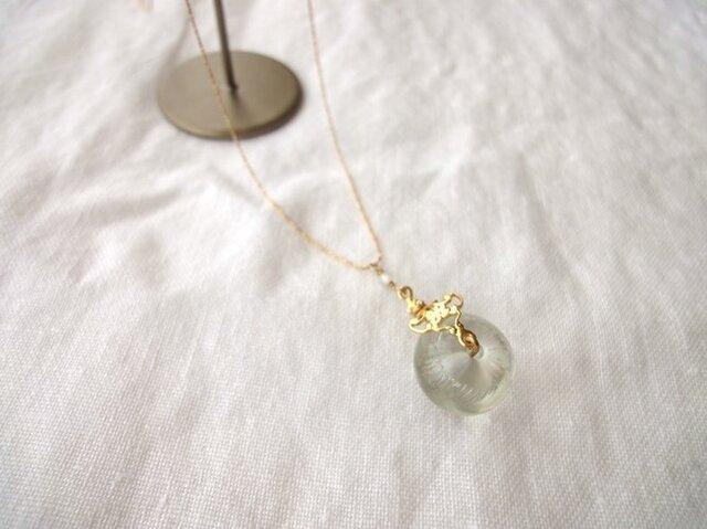 硝子の蜻蛉玉■フィグリーバチカン×ダイヤモンドカットチェーン■アラベスクバチカンの画像1枚目