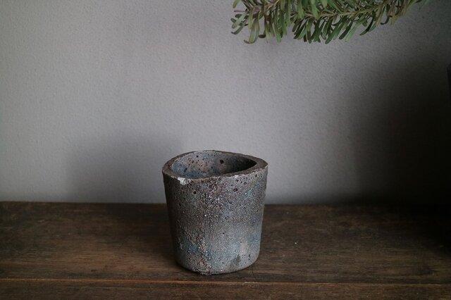 ao コンクリート鉢(多肉 ドライフラワー ボタニカル 植物)の画像1枚目