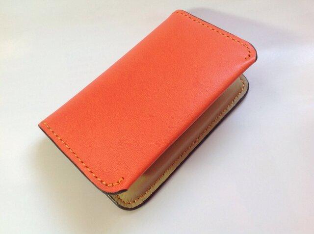 イタリアオレンジ×ベージュ 名刺・カード入れの画像1枚目