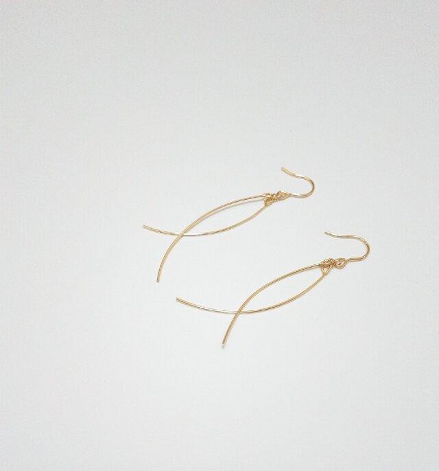 14kgf 【jewelry series 】swing ピアスの画像1枚目