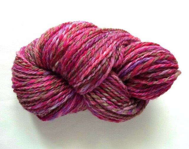 手紡ぎ糸 S16-2 100gの画像1枚目