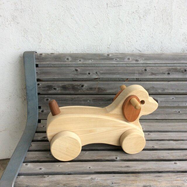 乗りもの ワンちゃん  [ zoo wood ]の画像1枚目