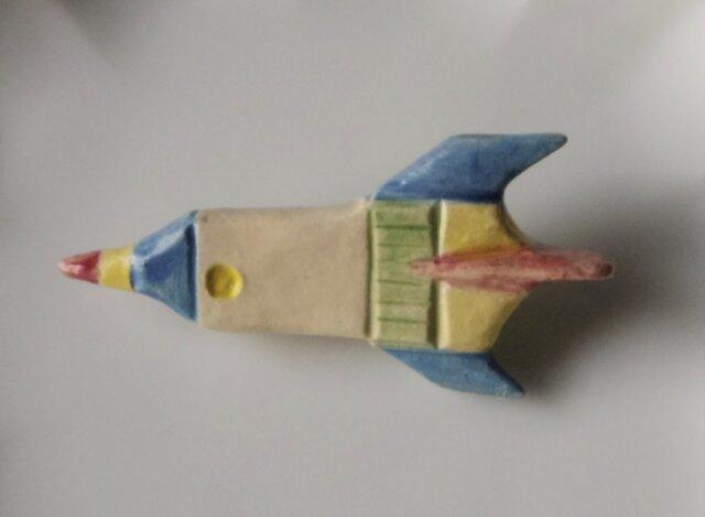 陶ブローチ-ロケットの画像1枚目