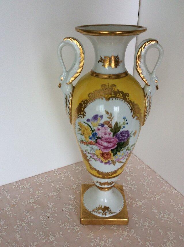 スワン手つき飾り壺(花束)の画像1枚目