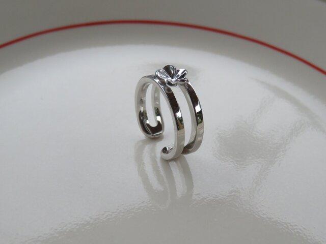 Single Plumeria Ring シンプルなプルメリアのリングの画像1枚目