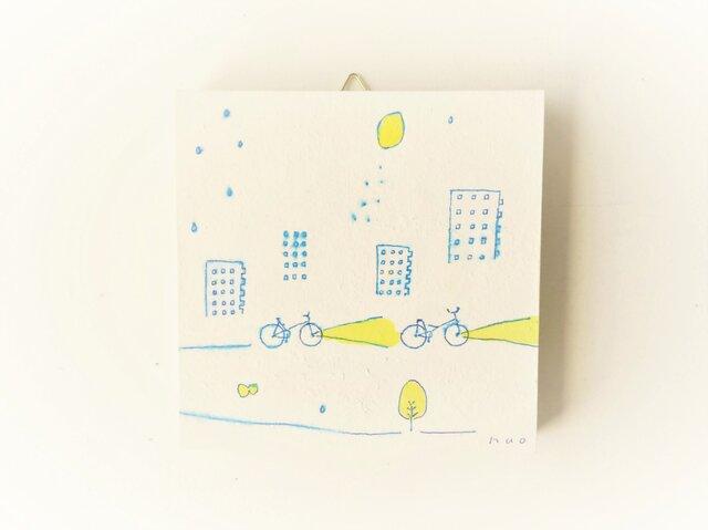 【受注制作】「レモンの夜に君とゆく」 ※ミニアートパネルの画像1枚目