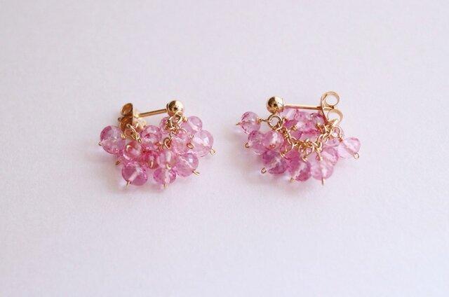 K14GF precious pink pierceの画像1枚目