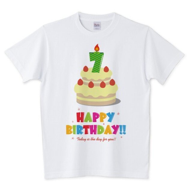 Happy Birthday! / 7才用 (キッズ・レディース・メンズ / 受注生産品)の画像1枚目
