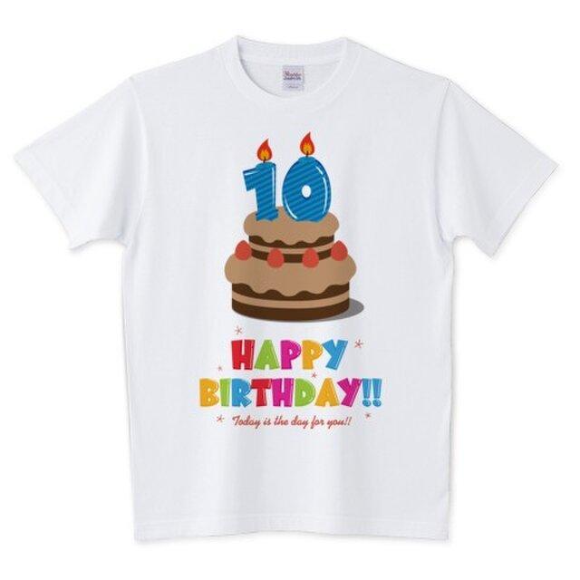 Happy Birthday! / 10才用 (キッズ・レディース・メンズ / 受注生産品)の画像1枚目