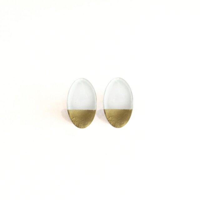 Design pierce White&goldの画像1枚目