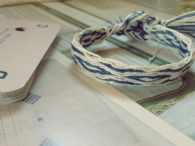 カード織りのブレス ブルーの画像1枚目
