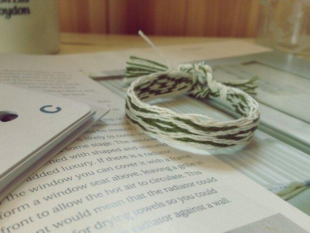 カード織りのブレス グリーンの画像1枚目