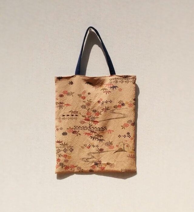 柿渋染の手提げ袋 の画像1枚目
