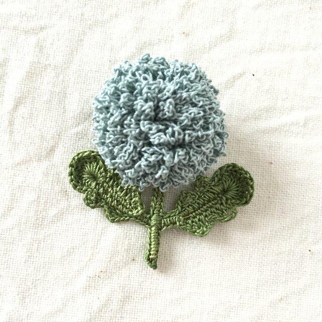 flower brooch A - ライトブルーの画像1枚目