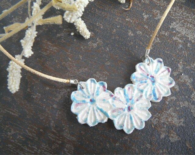 花のNecklace  (blue flower)の画像1枚目