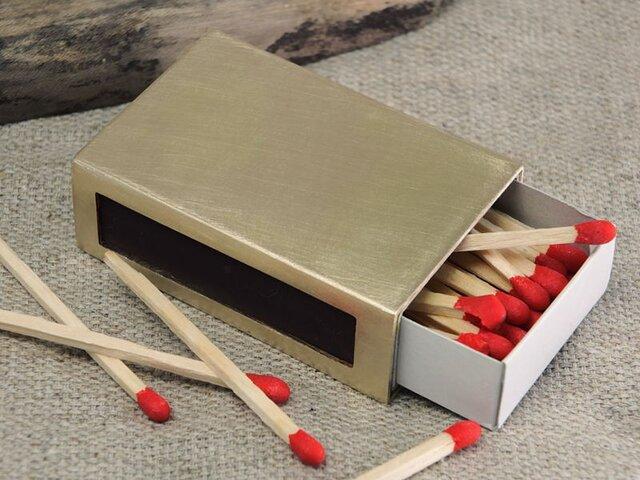 プレーンなマッチ箱カバー(真鍮)の画像1枚目