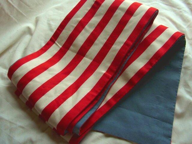 【セール中】半幅帯08 赤白の画像1枚目