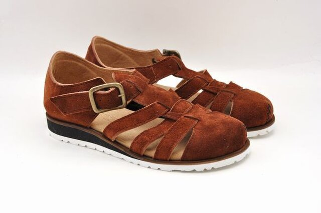 #Tokuyama Shoes:『plie mesh-shoes』camel suede leatherの画像1枚目