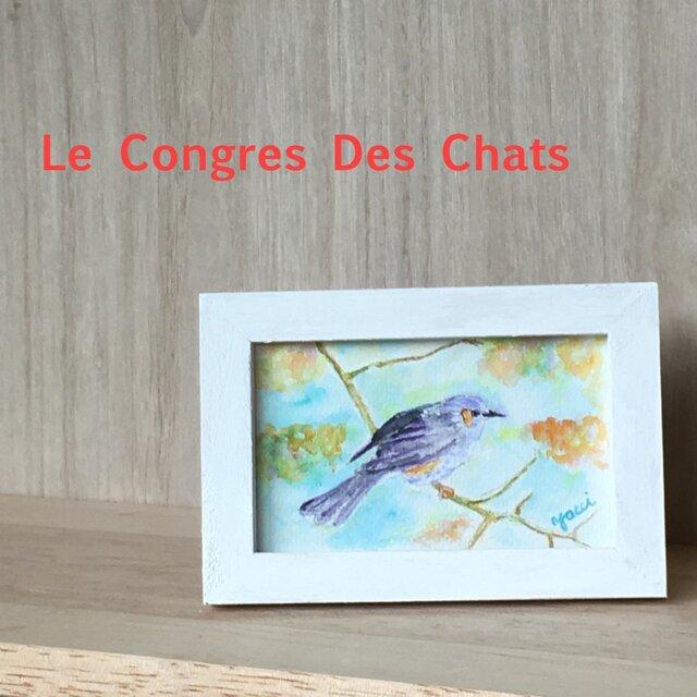 水彩画日本の鳥シリーズ ヒヨドリの画像1枚目