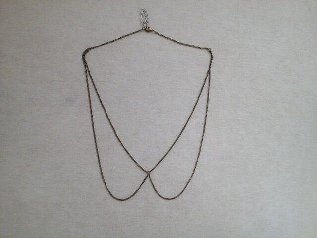 つけ襟のネックレスの画像1枚目