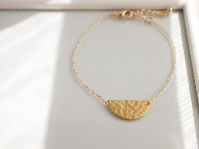 Bracelet half moon plateの画像1枚目