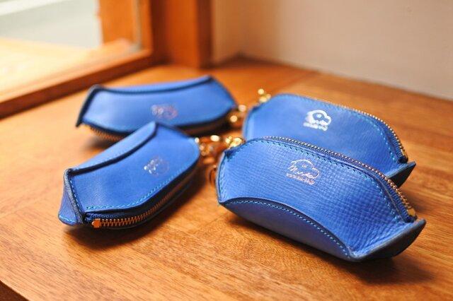 la culla  綺麗なブルーのキーケース&小銭入れの画像1枚目