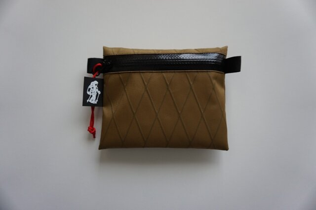 flat pouch S  x-pac  Coyote Brownの画像1枚目