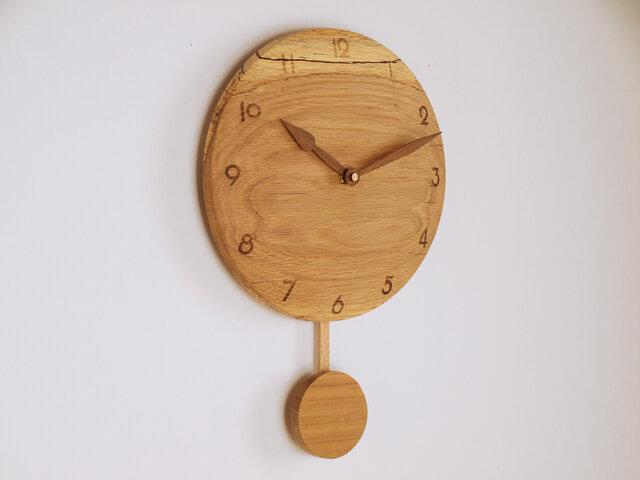 木製 振り子時計 楢材5の画像1枚目
